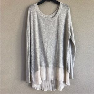 Abercrombie & Fitch Cream Metallic Sweater